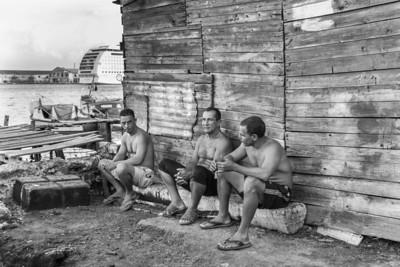 Fishermen taking a break in Regla, Havana