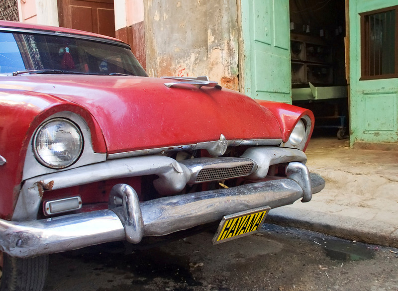 Classic American Car at Old Havana, Cuba.