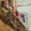 Man with laundry.  Calle de Los Mercaderes,  Havana, Cuba, June 2, 2016.