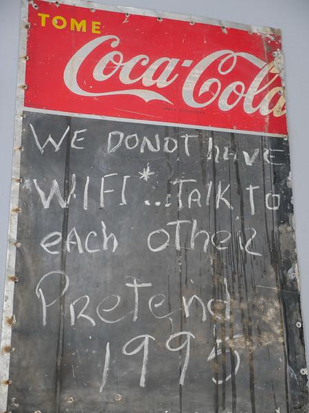 No Wi-Fi at Lamparilla Tapas & Cervezas, Old Havana, Cuba, June 11, 2016.