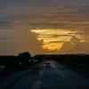 Sunset, one hour from Havana, Cuba, June 10, 2016
