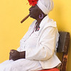 Fortune reader dressed in traditional Afro-Cuban costume, La Habana Vieja (Old Havana), Cuba