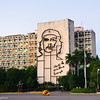 Ministerio del Interior covered by bronze wire sculpture of Che Guevara's symbolic image in Plaza de la Revolucion, Havana, Cuba