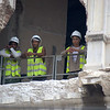 Workers on Hotel Manzana - remodeling & refurbishing - near Floridita Resturant in Havana, Cuba