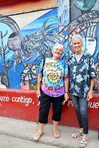 Becky and Jan in Hamel Alley, Havana, Cuba