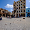 Plaza Vieja in Old Havana. The Cámara Oscura is on the rooftop of this building.