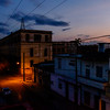 Sunset from the rooftop of Hostal Ivan y Lili in Cienfuegos.