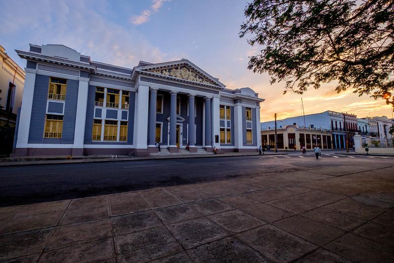 Sunrise at Parque José Martí in Cienfuegos.