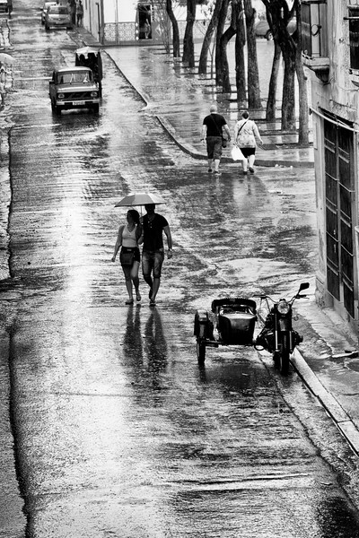 Brazil Street in Old Havana after a downpour.