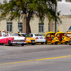 Taxis lined up in Old Havana.