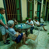 Rigoberto gives us information about what to see and do in Old Havana while his wife Lourdes sits nearby at Casa Habana Lourdes 1913.