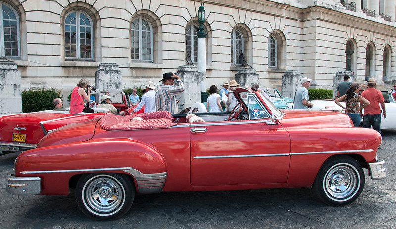 We were treating to an hour convertible ride thru Old Havana prior to the Rooftop Party.