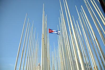 Cuba flag in Havana