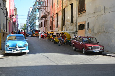 Street scene near tobacco factory in Havana, Cuba 4-11-16