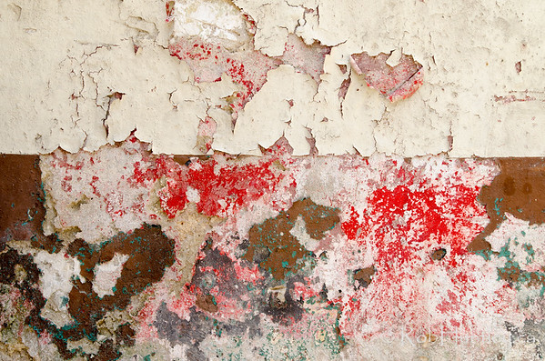 Flaking paint abstract.