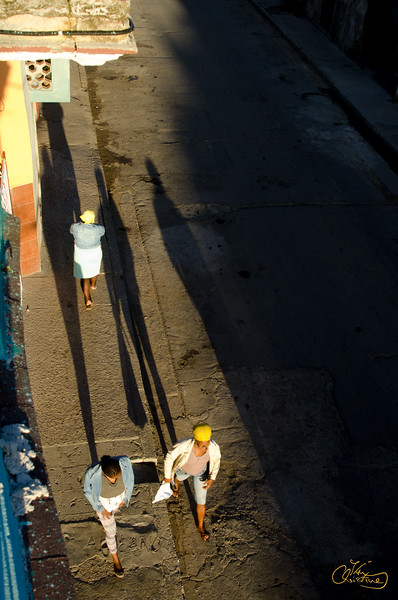 Walking in Old Havana at sunrise