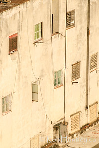 West-facing wall. Havana, Cuba.