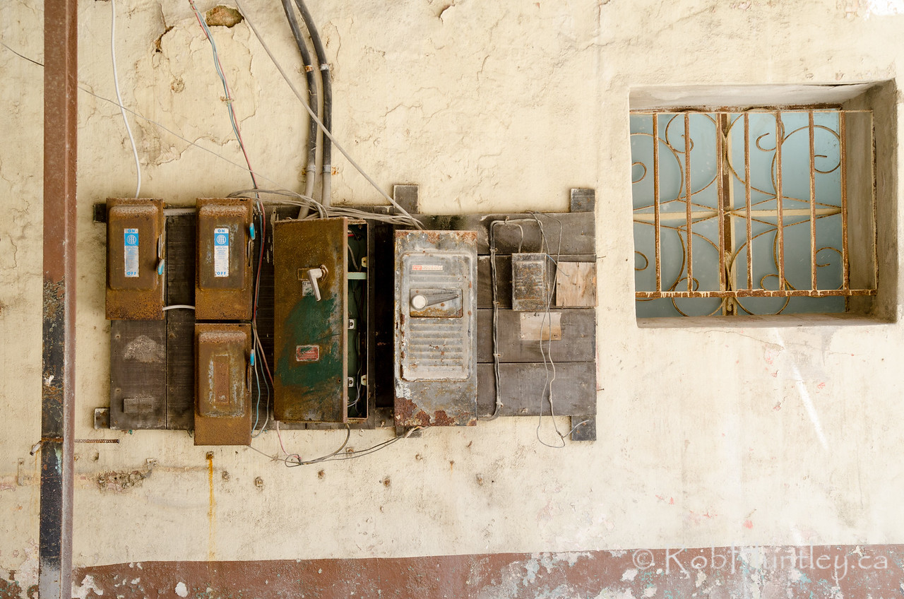 Old electrical boxes
