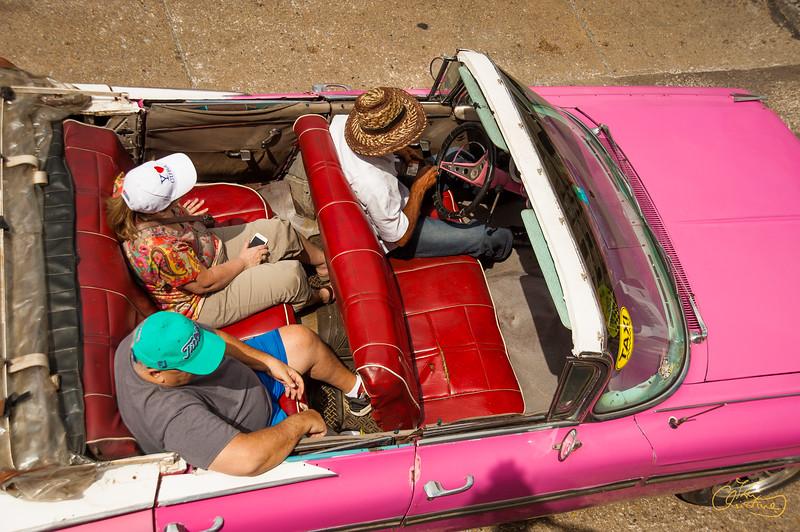 Pink Convertible Cadillac
