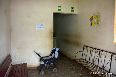 Waiting room at the clinic in Isabel, Cuba - April 8,2016