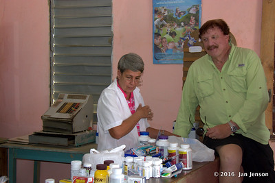 Bill Bachman with donations for the clinic in Isabel, Cuba - April 8,2016