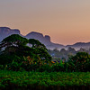 Sunrise over the Viñales Valley.