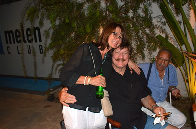 Terre, Bill and ?? @ our final night party at the Melen Club - Havana, Cuba - April 11, 2016
