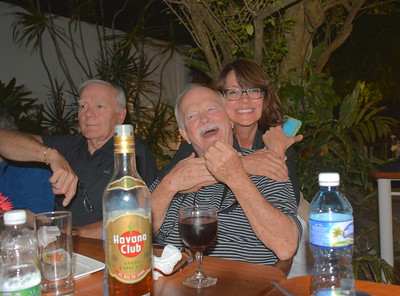 Steve, Tom & Terre @ our final night party at the Melen Club - Havana, Cuba - April 11, 2016