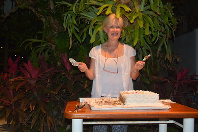 Sherry cutting the cake @ our final night party at the Melen Club - Havana, Cuba - April 11, 2016