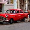 Car washing in Old Havana.