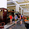 The lobby of the Hotel Ambos Mundos in Old Havana.