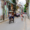 Busy street in Old Havana.