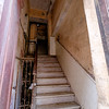 Most residences are accessed by steep, marble stairways.