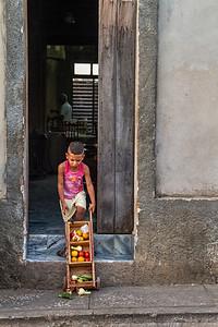 Little street vendor