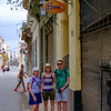 Outside of our casa particular, Casa Havana Lourdes 1913, in Old Havana.