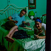 Ross and Nicole in their room at Casa Havana Lourdes.