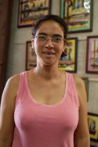 Yami Martínez at her gallery, La Casa de los Conspiradores
