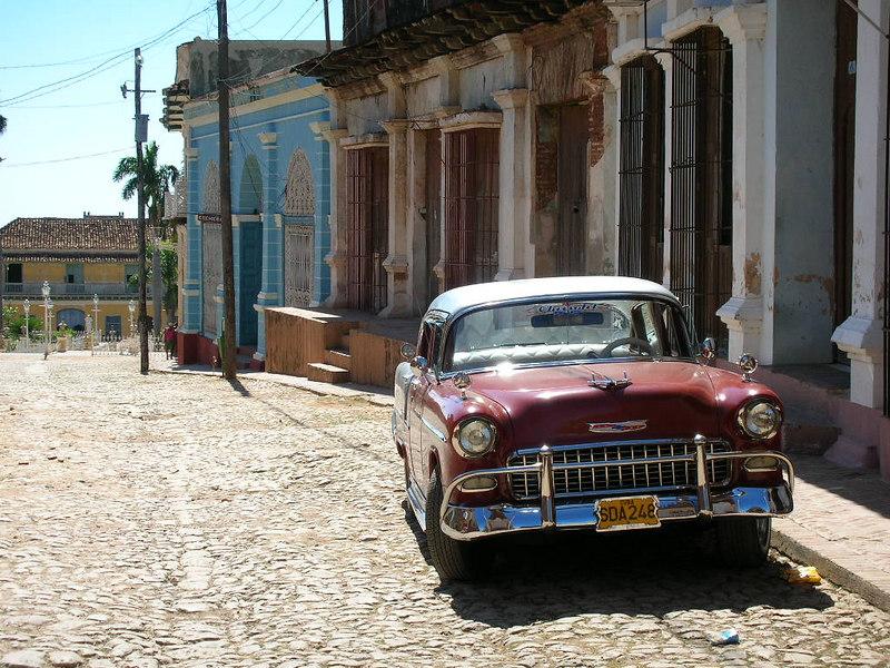 Iste belkide bütün Cuba seyahatini anlatabilecek 2-3 fotodan biri. Trinidad sokakları taştan, 56 çıkardı beni baştan.