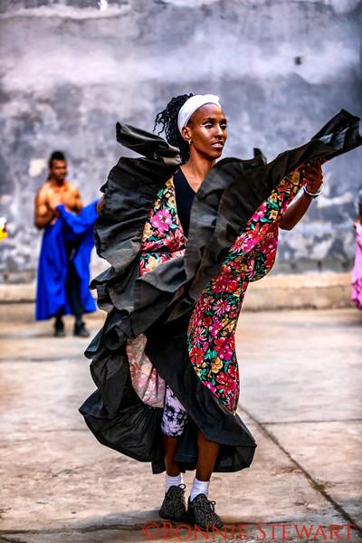 Performing energetic Dance moves