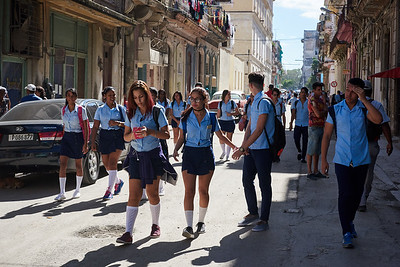School kids in Havana.