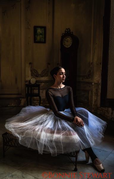 Ballerina in the living room