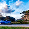 Vinales and another classic car