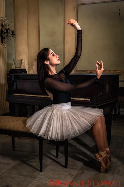 Ballerina and Piano