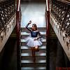 Ballerina on the stairs