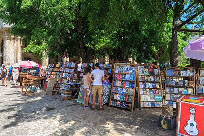 Book market on Plaza de Armas,La Habana Vieja, Old Havana, Cuba