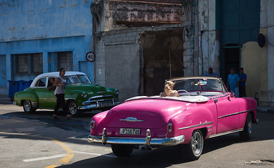 Old Havana traffic.