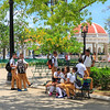 School children in Parque Marti, Cienfuegos. Cuba