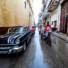 Classic cars - our group traveled in these two cars visiting sites in Havana
