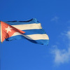 Cuban flag waving in the wind.