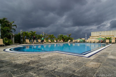 Rooftop pool of our hotel.  As you can see, we had some threatening skies although fortunately very little rain.